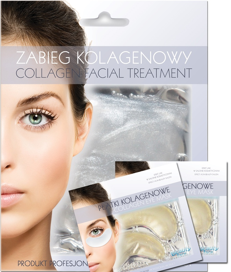 SUPER OFFER SET  Brightening collagen face mask + 2 pcs eye collaen patch - only 19,90 PLN