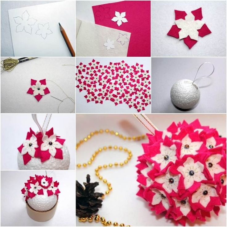 Mejores 184 imgenes de christmas en pinterest adornos de navidad how to make a felt ornament for christmas diy christmas diy crafts do it yourself diy solutioingenieria Choice Image
