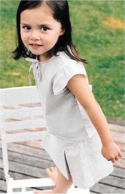 Isabella flattern Ärmel oben PDF-Muster in den Größen von Townmouse