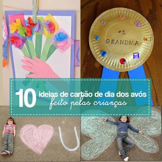 Com um cartão de dia dos avós feito pelas crianças você vai deixar o dia 26 de julho ainda mais especial.