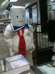 home made marshmallow man costume