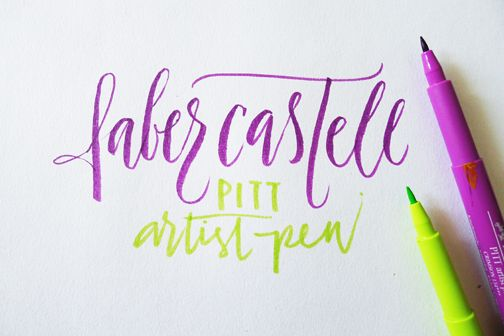 Making letters with brushes - faber castell brush tip + pitt artist pen. via .:. the fozzy book #typography