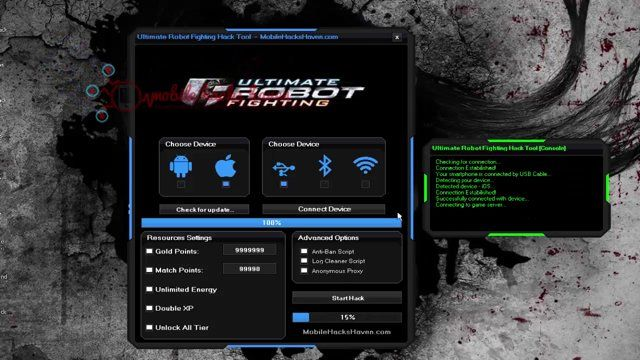 Ultimate Robot Fighting Hack Tool ~ 23 gp king