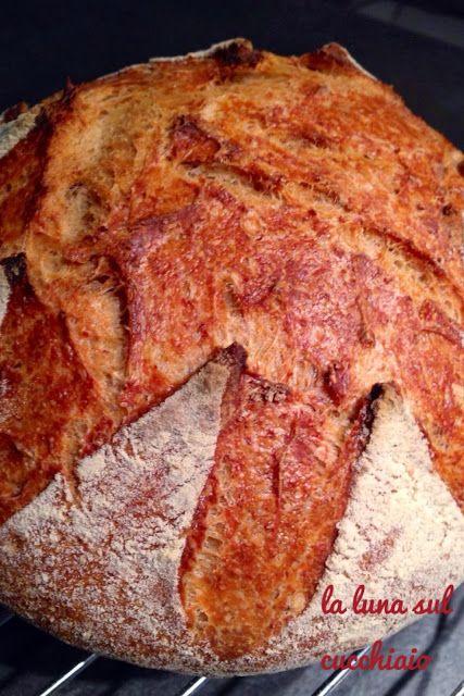 La luna sul cucchiaio: Pane con autolisi idratato al 100% con pasta madre...