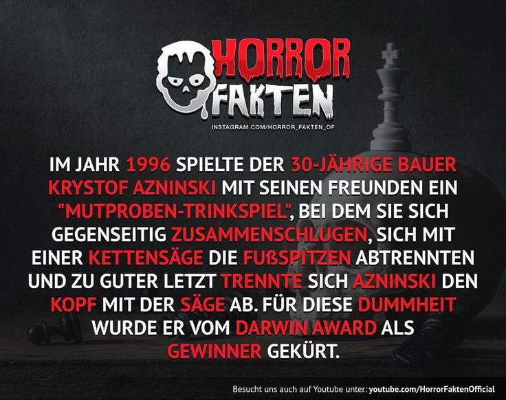 Dumm, dümmer .. Vollende den Satz #horrorfakten