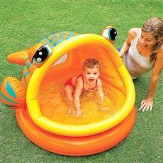 İntex Gölgelikli Balık Bebek Havuzu 124x109x71 Cm