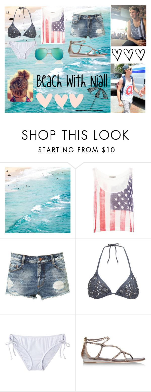 """Beach with Niall"" by kennedey-lynn-freeman ❤ liked on Polyvore featuring Pull&Bear, Zara, Accessorize, Mossimo, René Caovilla and Ray-Ban"