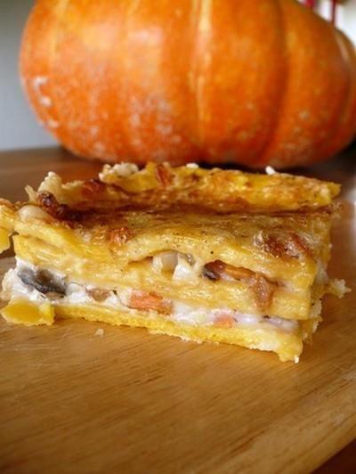 Recette - Lasagnes de citrouille aux champignons - Notée 4.5/5 par les internautes