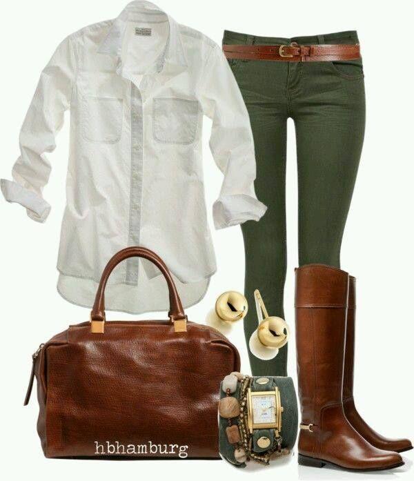 Outfits en tono verde militar                                                                                                                                                                                 Más