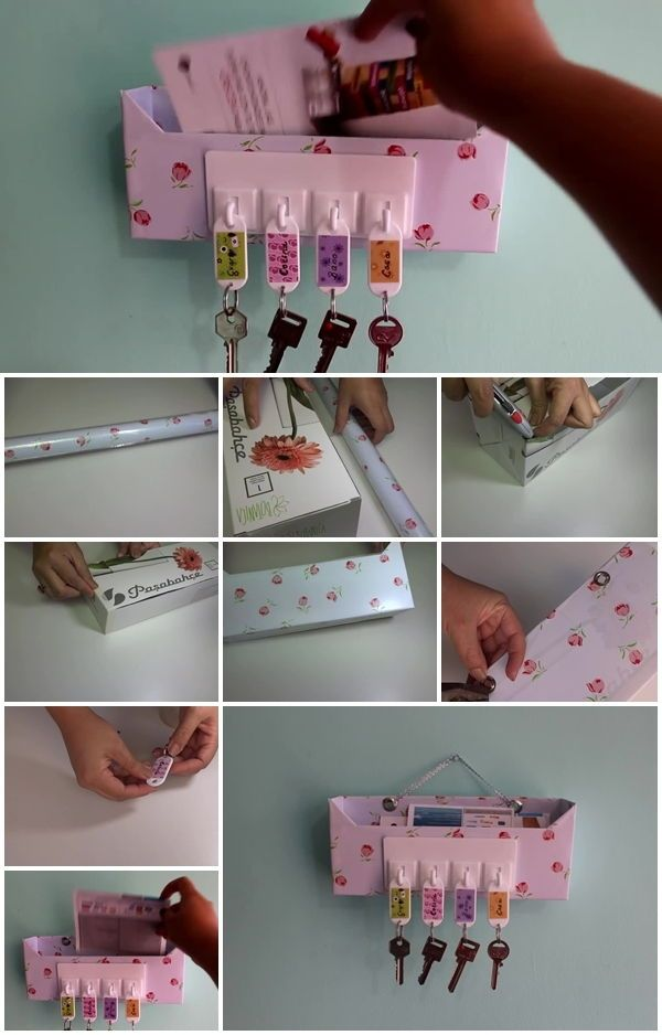 How to Make Cardboard Key Holder and Organizer | UsefulDIY.com