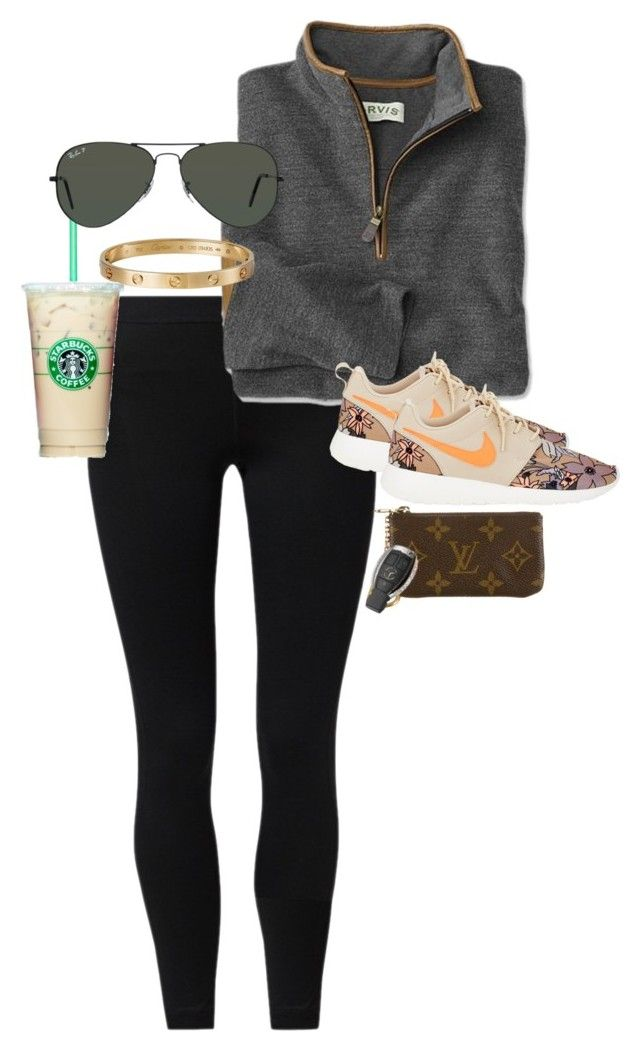 """""""shoutout to the 34 followers I got .... random...?"""" by juliaparmartin ❤ liked on Polyvore featuring NIKE, Cartier, Ray-Ban and Louis Vuitton"""