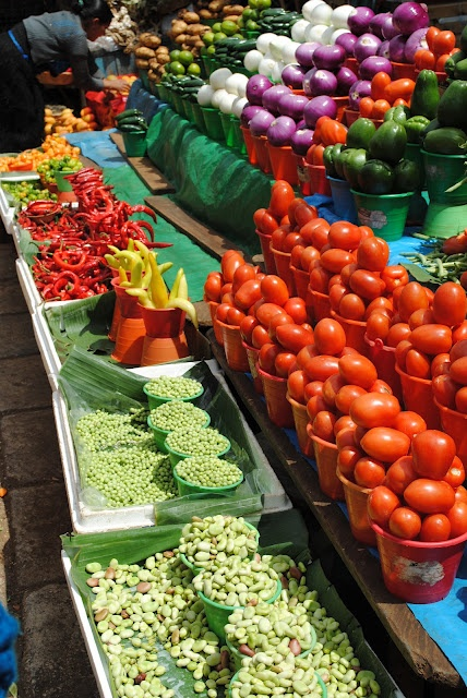 Market in San Cristobal,Venezuela - good color contrasting