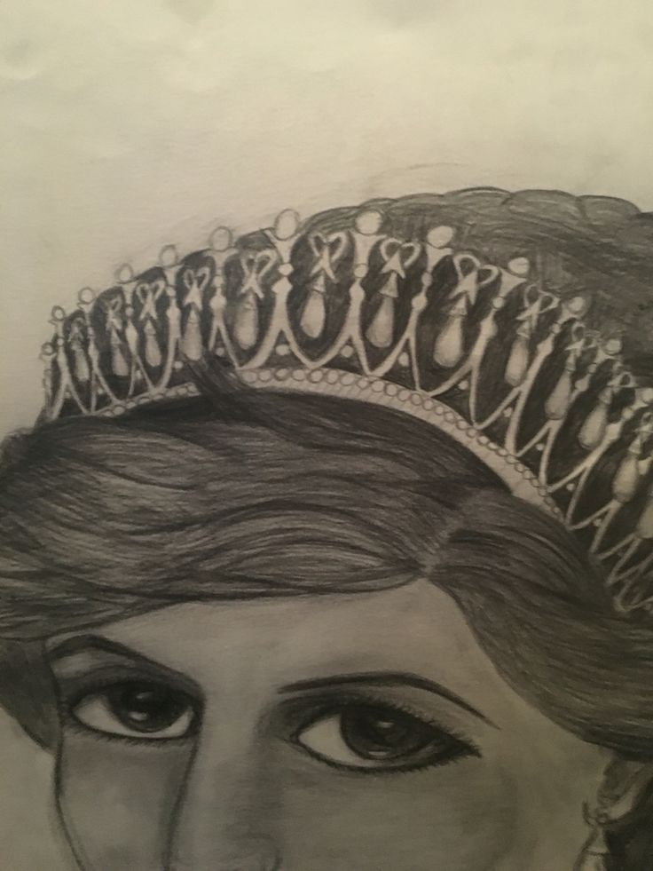 My daughters awesome drawing of princess Di!