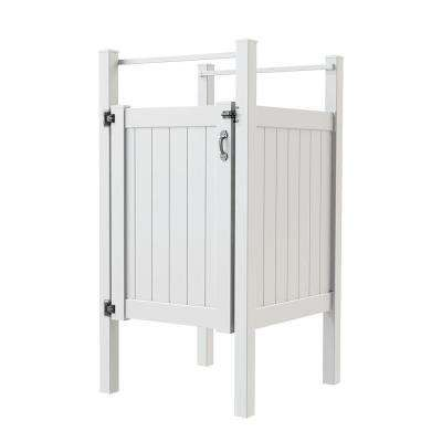 vinyl outdoor shower stall kit with unassembled