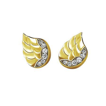 """Simpaticissimi e originabilissimi questi orecchini """"ali di angeli"""", in acciaio inossidabile gold, naturalmente con magneti, naturalmente Magnetux Wellness"""