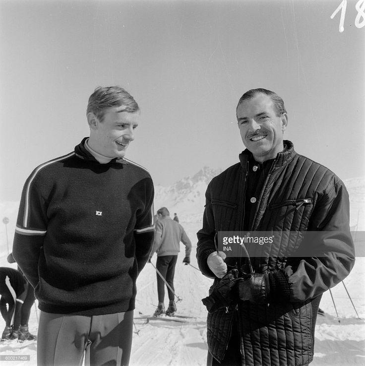 Jean Claude Killy beside Maurice Herzog in Méribel.