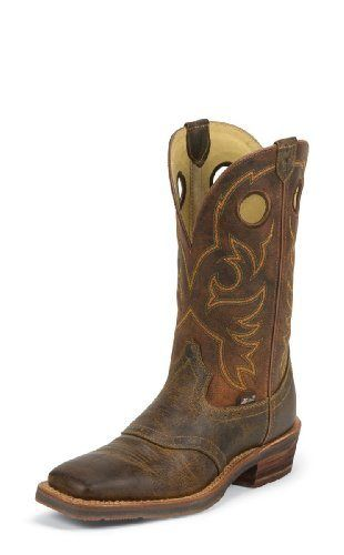 Justin Men's 1879 Saddle Vamp Cowboy Boot Square Toe Brown US - http://authenticboots.com/justin-mens-1879-saddle-vamp-cowboy-boot-square-toe-brown-us/