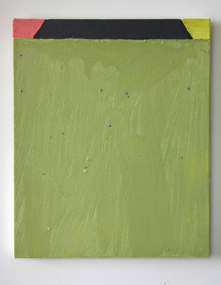 Rohan Hartley mills, Felt Feeled Painting, 2014, oil on canvas, 420 x 340 mm