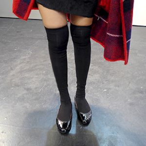 Basic Knit Knee-High Socks