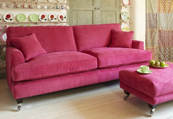 Florence Medium Sofa In Vogue Hot Pink Sofa Workshop