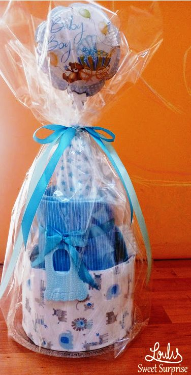 Diaper Cake for Boys Gift for baby Shower  #Loulis_Sweet_Surprise