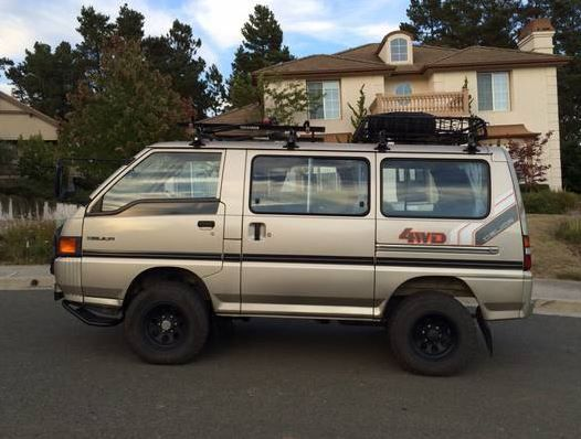 can 39 t believe how much i want this bringatrailer 1986 mitsubishi delica 4x4 turbo diesel. Black Bedroom Furniture Sets. Home Design Ideas