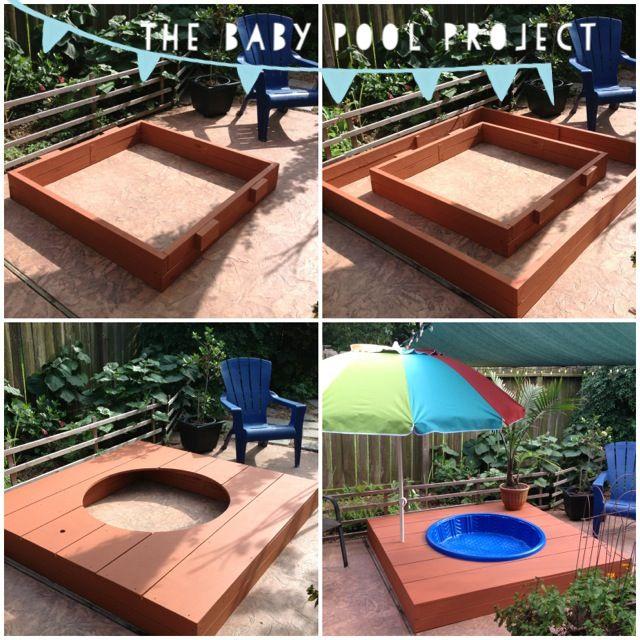 My Husband Made This Awesome #DIY #Baby Kiddie #Pool Deck U2022 Step 1