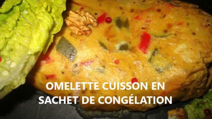 Recette omelette aux poivrons cuisson sachet zip