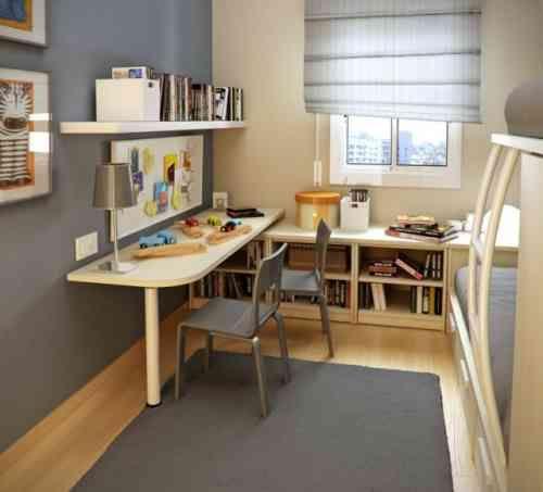Idée de décoration de petite chambre d'adolescent garçon