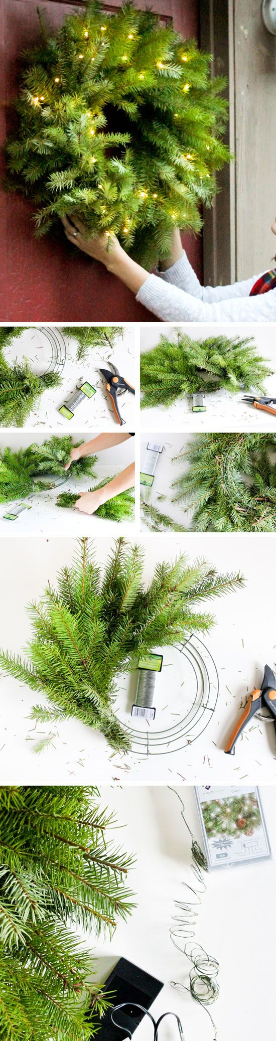 how to make a fresh christmas wreath video