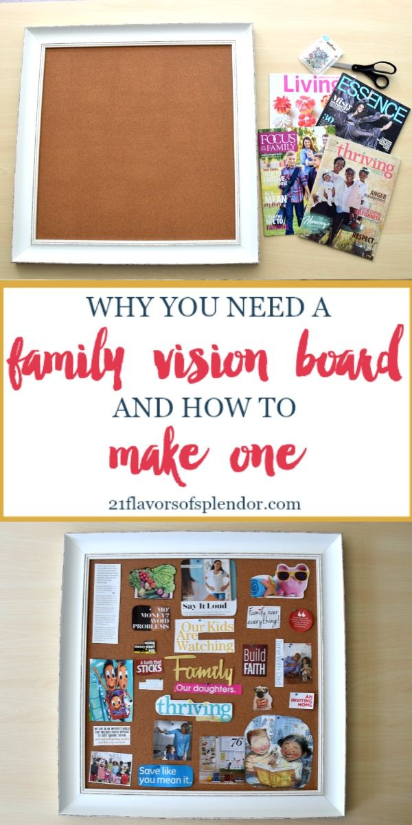 Making a family vision board is not only a fun way to spend time with your husband, but allows you both to get on the same page Click... #vision #family #visionboard #marriage #familygoals