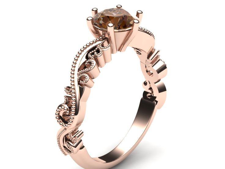 custom rose gold engagement ring cad renders custom engagement rings orange county - Custom Wedding Ring