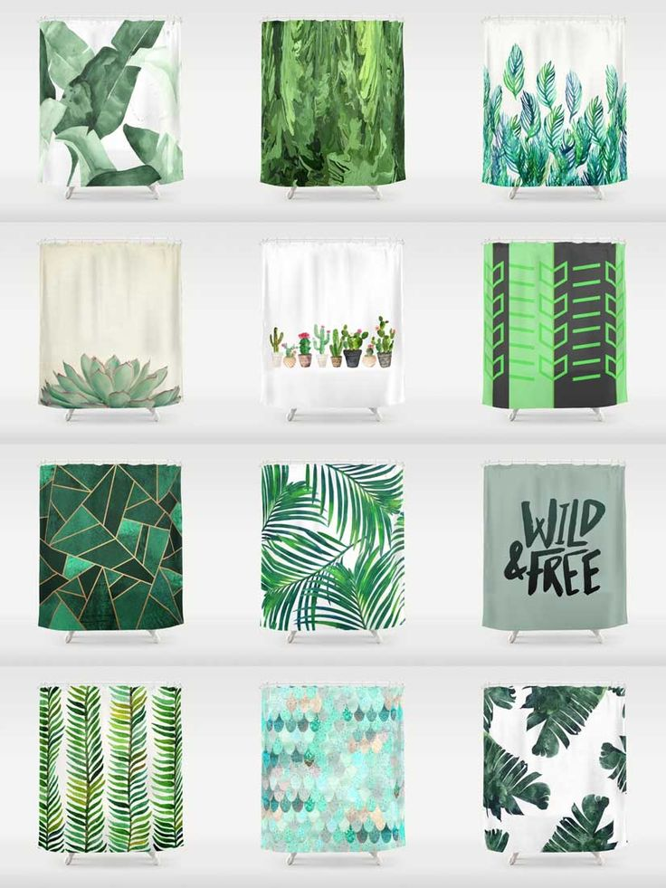 Society6 Green Shower Curtains - Add a bold statement to your bathroom with Society6 Shower Curtains. Want more? We also have bath mats and towels!