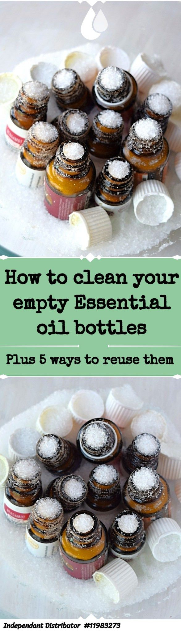 %name Cleaning empty Essential oil Bottles   A Stray Kitchen