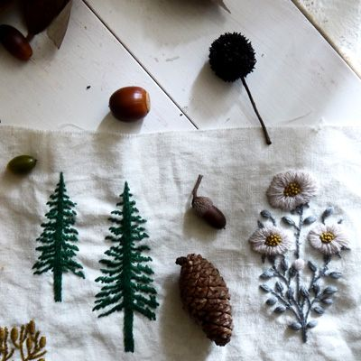 autumn embroidery  by yumiko higuchi