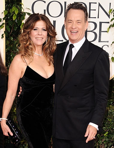 "TOM HANKS & RITA WILSON.  They wed in 1988 and have two sons. ""I didn't know what being in love was until I met Tom,"" Wilson said."