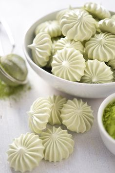 Think a meringue is off-limits to vegans? This outstanding Vegan Matcha Meringue recipe from Maria Siriano of Sift and Whisk is proof to the contrary!