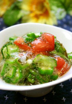 夏に!★心太・もずく酢・夏野菜のサラダ