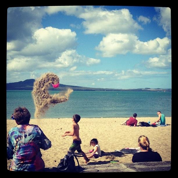 The winning shot - Mission Bay's Sand Monster