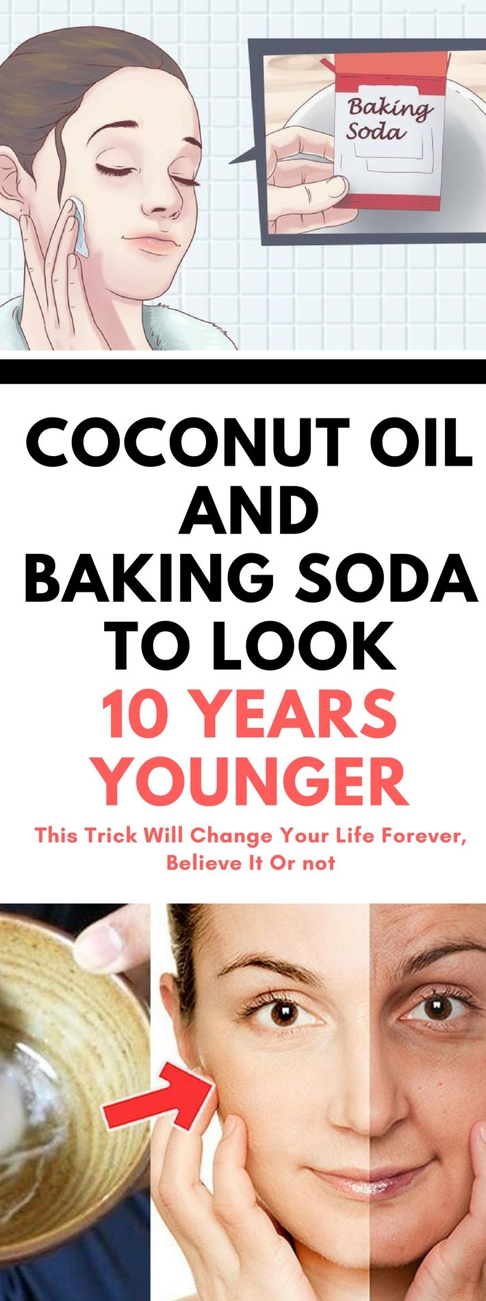 This Is How To Use Coconut Oil And Baking Soda To Look 10 Years Younger..!!!! !!!