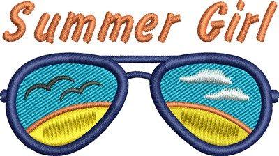 Summer Girl embroidery design