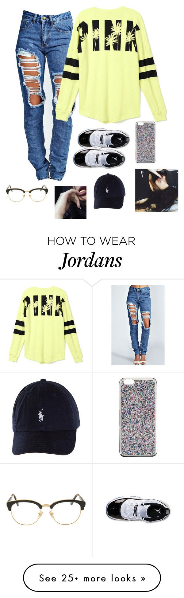 """Untitled #122"" by baby-boogaloo on Polyvore featuring Boohoo, Victoria's Secret, Retrò, J.Crew, xO Design and Sunday Somewhere"