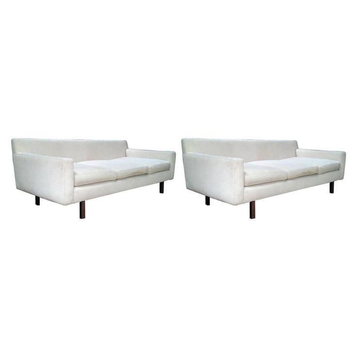 $4800 Matching Pair of Mid Century Danish Sofas | 1stdibs.com
