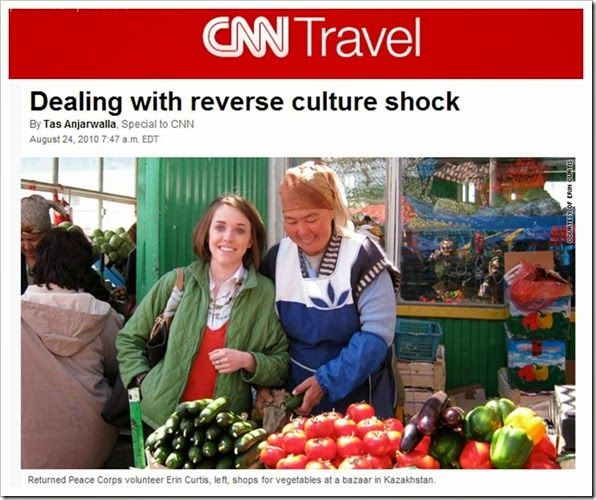 reverse culture shock Like a whirlwind of warm hugs, high-fives and rekindled romance, my two-week vacation in america is over it passed as quickly as it came, spitting me out feeling jet-lagged and reflecting on this strange new sensation of reverse culture shock.