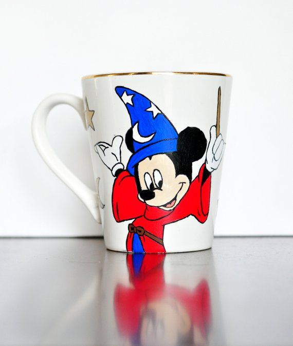 Sorcerer MugEtsy Disney Mouse Hand Glassesitems Painted Mickey uikZPXO