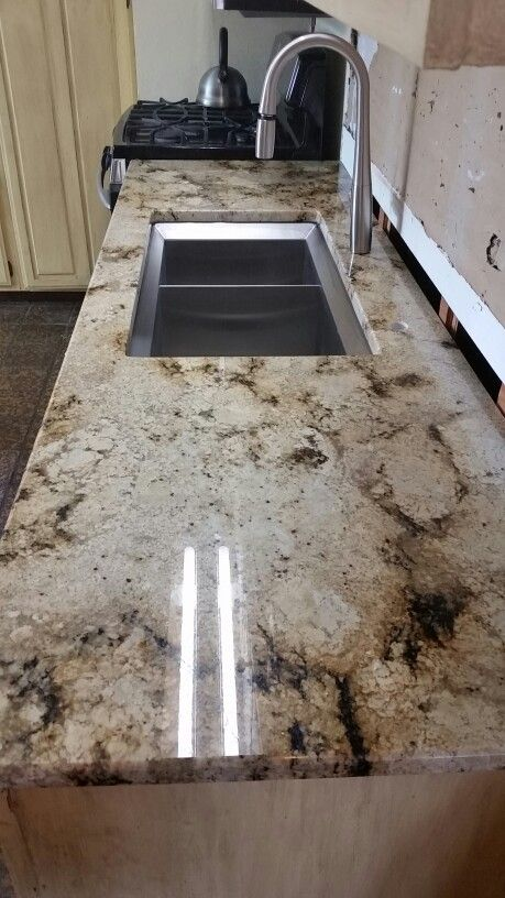 Sienne brulee granite and Kohler double sink For the Home ...