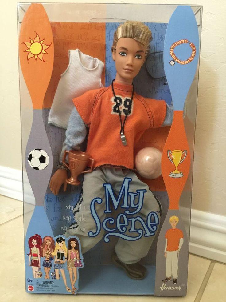 2003 My Scene Hudson doll, Barbie family of dolls, MATTEL Soccer Ball and Trophy
