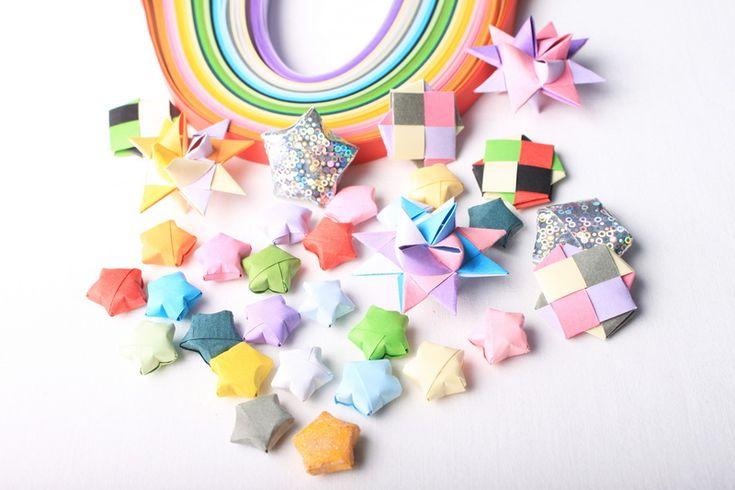 Origami hvězdičky