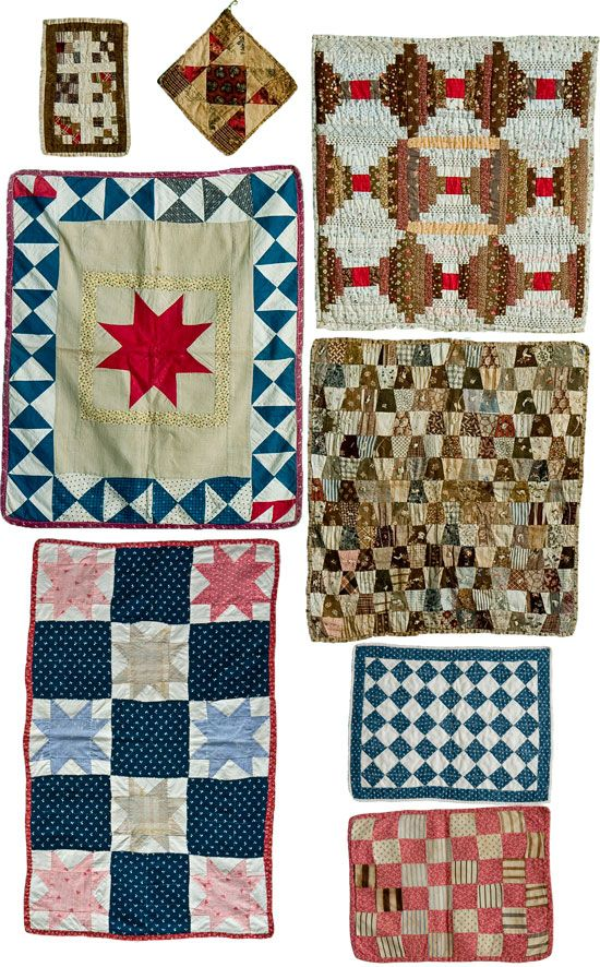Tiny little quilts!  This is how I taught myself to quilt.  I started small.  Dawn