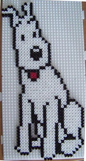 Milou (Tintin ) hama beads by Pat